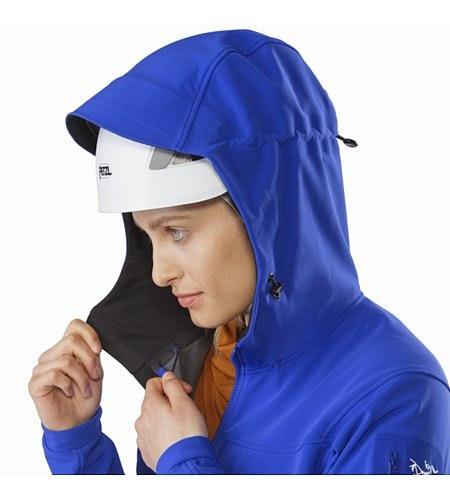 Gamma MX Hoody Women's Zaffre Helmet Compatible Hood