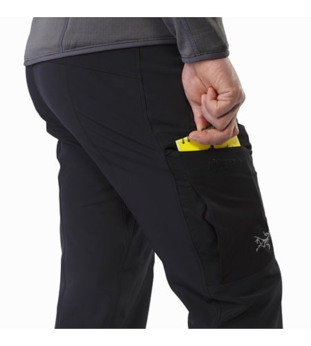 Gamma MX Pant Black Thigh Pocket
