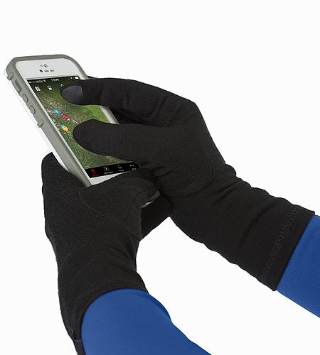 Gothic Glove Black Touchscreen-kompatible Einsätze