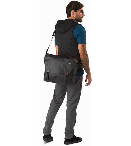 Granville 16 Courier Bag Black Back