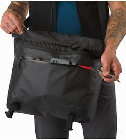 Granville 16 Courier Bag Black Front Pocket