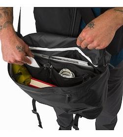 Granville 16 Courier Bag Black Main Compartment