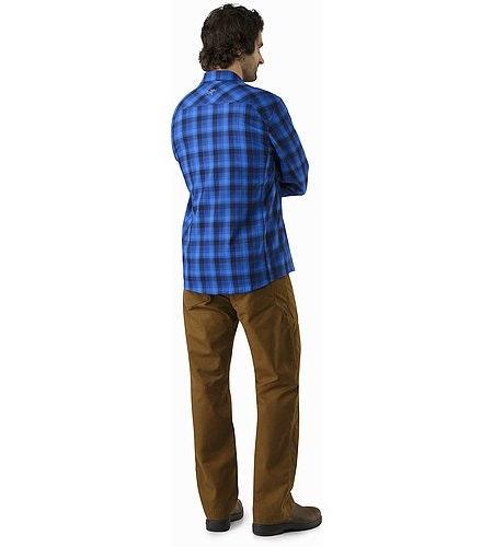 Gryson Shirt LS Triton Deja Blue Back View