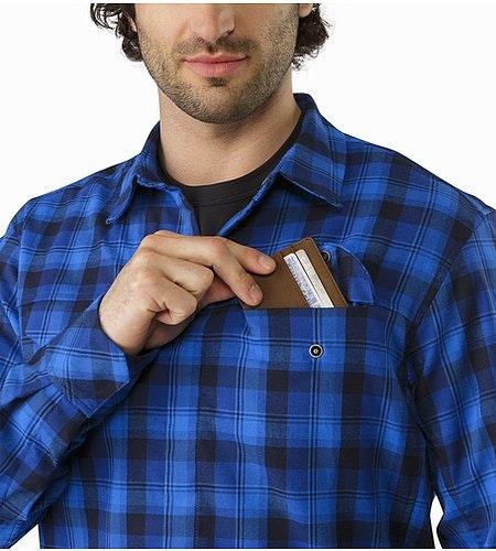 Gryson Shirt LS Triton Deja Blue Chest Pocket