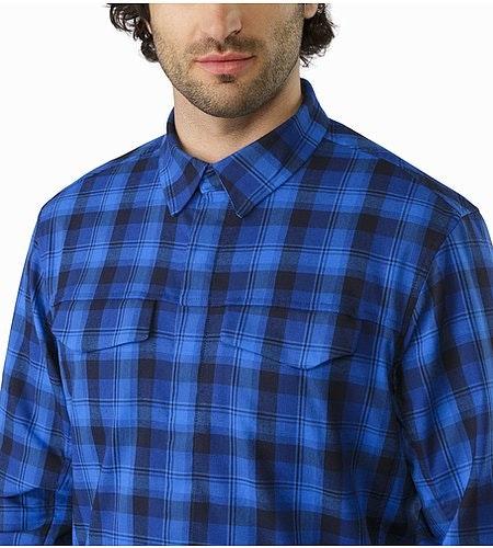 Gryson Shirt LS Triton Deja Blue Closed Collar