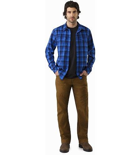 Gryson Shirt LS Triton Deja Blue Front View