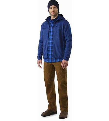 Gryson Shirt LS Triton Deja Blue Outfit