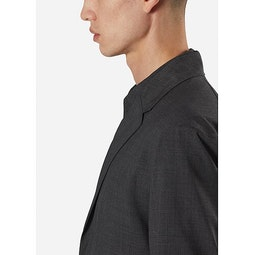 Haedn LT Blazer Graphite Heather Collar 1