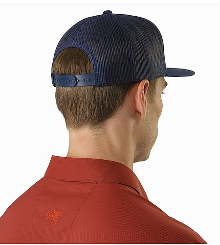 Hexagonal Patch Trucker Hat Midnight Back View
