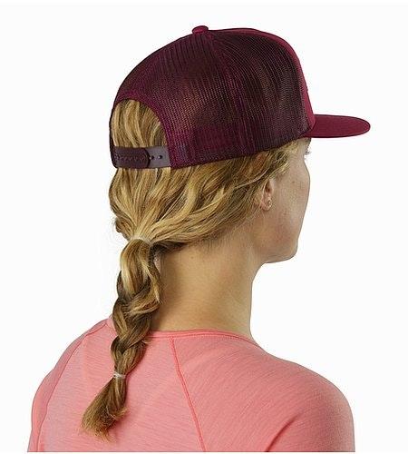 Hexagonal Patch Trucker Hat Pentas Back View