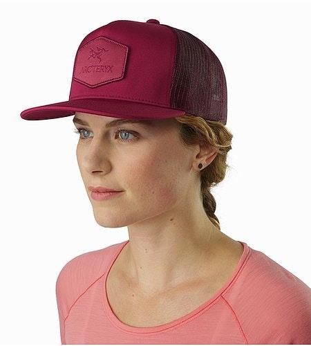 Hexagonal Patch Trucker Hat Pentas Front View