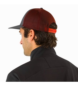 Hexagonal Trucker Hat Pilot Back View
