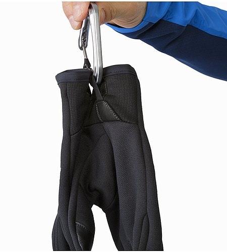 Ignis Glove Black Karabinerschlaufe