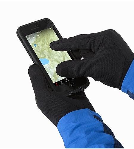 Ignis Glove Black Touchscreen-kompatible Einsätze