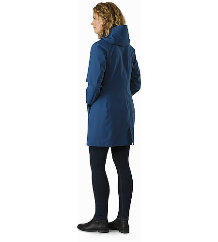 Imber Jacket Women's Poseidon Back View