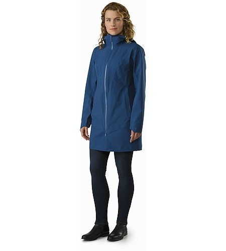 Imber Jacket Women's Poseidon Front View
