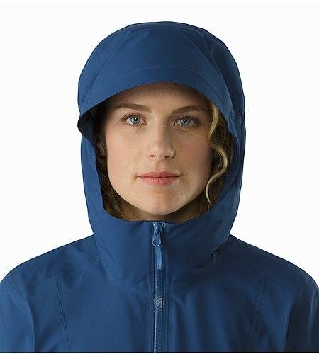 Imber Jacket Women's Poseidon Hood Front View