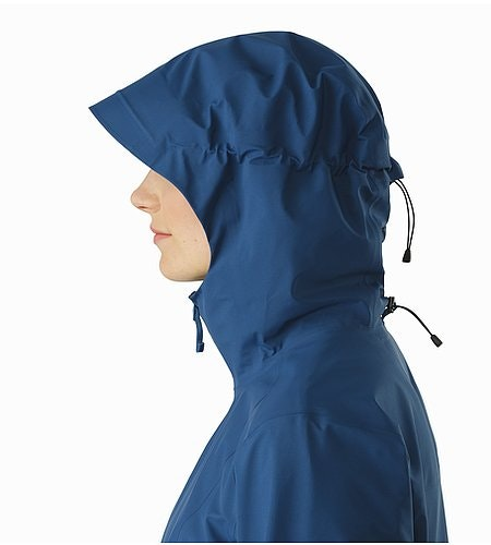Imber Jacket Women's Poseidon Hood Side View