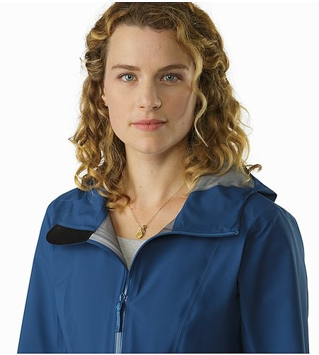 Imber Jacket Women's Poseidon Open Collar