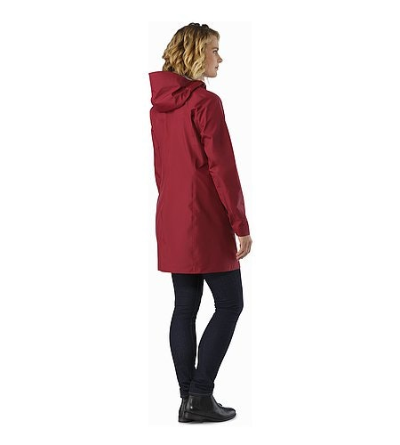 Imber Jacket Women's Scarlet Back View