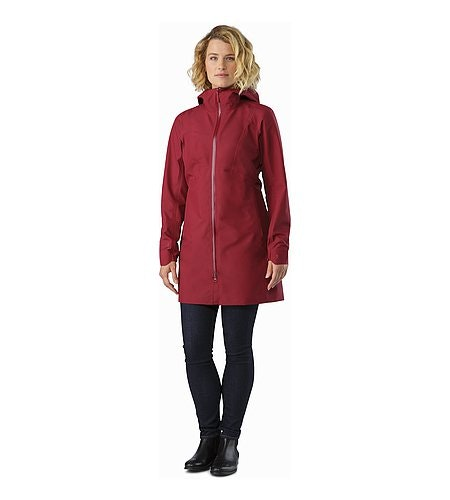Imber Jacket Women's Scarlet Front View