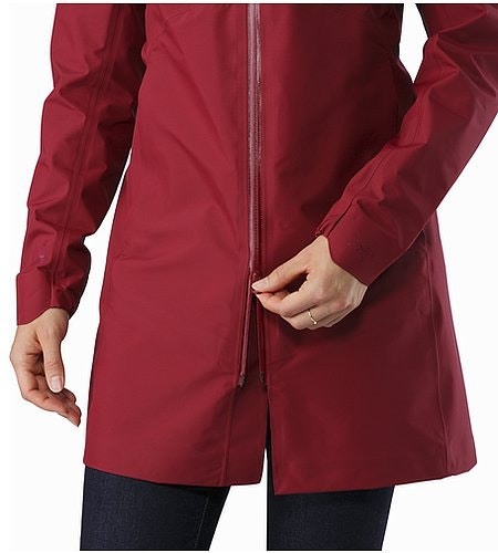 Imber Jacket Women's Scarlet Two Way Zipper