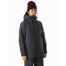 Incendia Jacket Women's Black Heather Front View