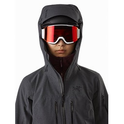 Incendia Jacket Women's Black Heather Helmet Compatible Hood
