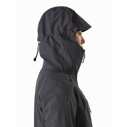 Incendia Jacket Women's Black Heather Hood Side View