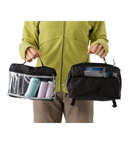Index Large Toiletries Bag Black 2333