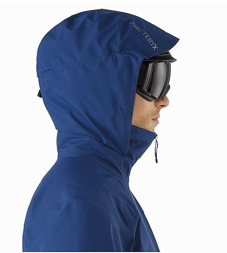 Iser Jacket Triton Helmet Compatible Hood Side View
