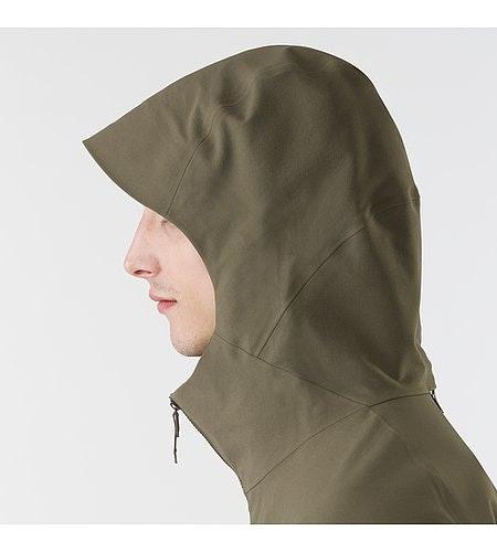 Isogon MX Jacket Mortar Hood Side View