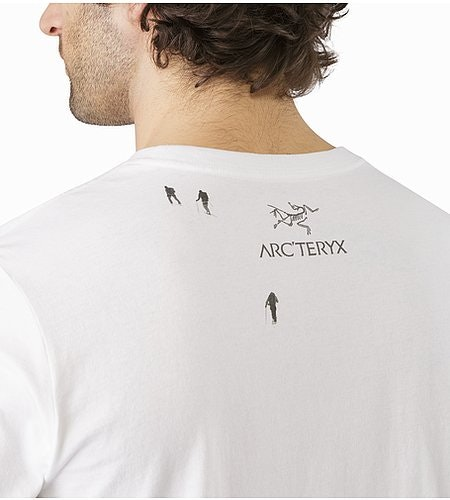 Journey Down T-Shirt White Graphic Close Up Back