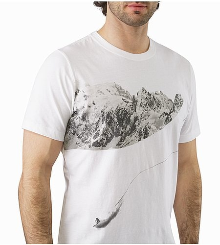 Journey Down T-Shirt White Graphic Close Up