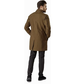 Keppel Trench Coat Griz Back View