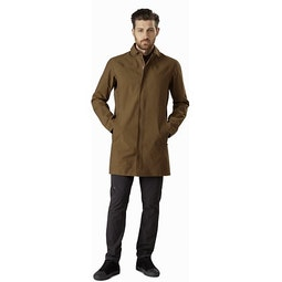 Keppel Trench Coat Griz Front View
