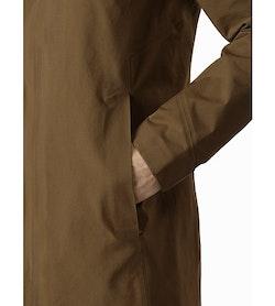 Keppel Trench Coat Griz Hand Pocket