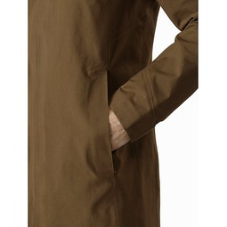 Keppel Trench Coat Griz Hand Pocket