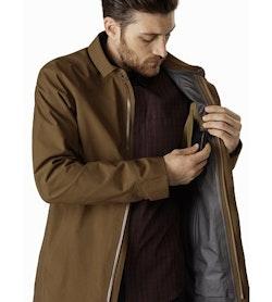Keppel Trench Coat Griz Internal Security Pocket