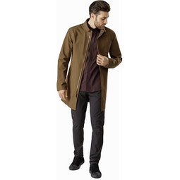 Keppel Trench Coat Griz Open View