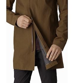 Keppel Trench Coat Griz Two Way Zipper