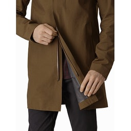 Keppel Trench Coat Griz Two Way Zipper