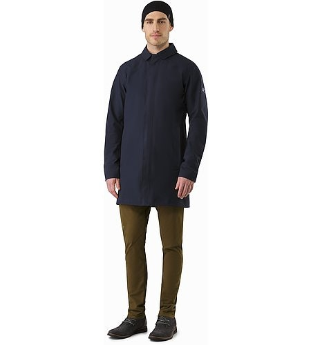 Keppel Trench Coat Kingfisher Front View