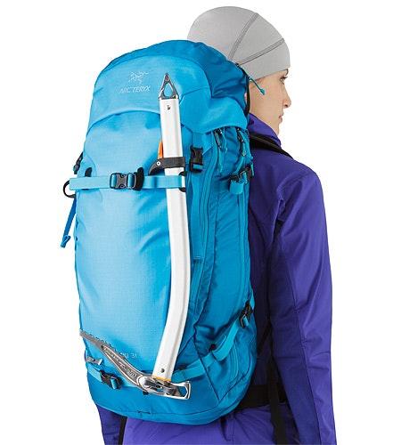 Khamski 31 Backpack Ionian Blue Eisgerät-Befestigung