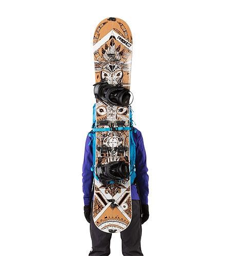 Khamski 31 Backpack Ionian Blue Mit Snowboard