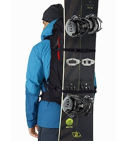 Khamski 38 Backpack Black Dynasty Vertical Snowboard Carry