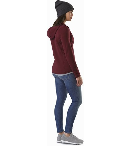 Kyanite Hoody Women's Crimson Back View