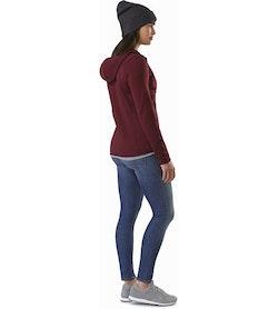 Chaqueta con capucha Kyanite para mujer Crimson: Vista posterior