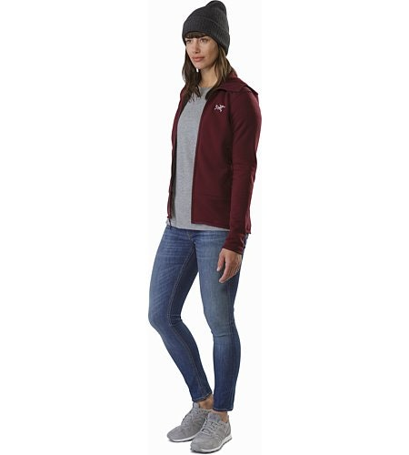 Kyanite Hoody Women's Crimson Open View