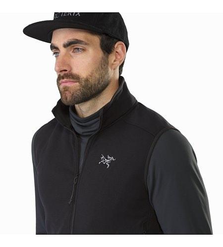 Kyanite Vest Black Open Collar